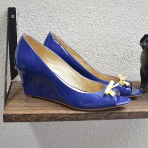 kate spade Tracey Patent Leather Peep Toe Wedg